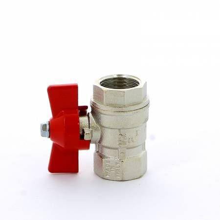 Кран шаровой латунный стандартный проход ВР-ВР, ручка-бабочка, Ду 15-25 Ру 30,  Vienna 118, ITAP