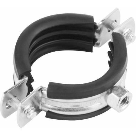 Хомут стальной c резиновым уплотнением для тяжелых нагрузок