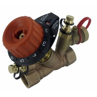 """Балансировочный клапан 750PV c 2 измерительными ниппелями и дренажом DN15 (1/2"""")  О.10-4.47, COMAP"""