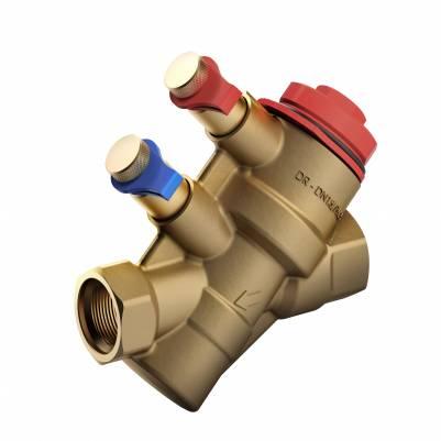 """Автоматический балансировочный клапан PICV (Ballorex Dynamic) c 2 измерительными ниппелями DN15 (1/2""""), 0.12 м3/ч, COMAP"""