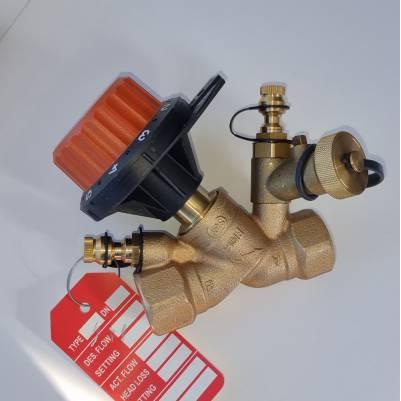 """Балансировочный клапан 750PV c 2 измерительными ниппелями и дренажом DN20 (3/4"""") О.13-5.90, COMAP"""