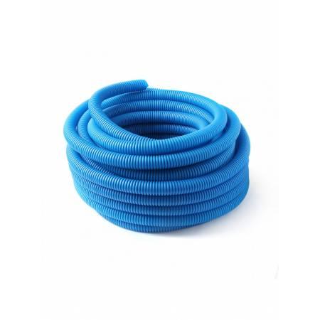 Защитная гофрированная труба из ПНД 25/16, синяя