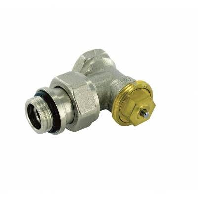 """Термостатический клапан угловой тип R808B с фиксированным Kv, 1/2"""", М28 O-Ring, COMAP"""