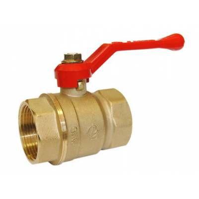 Кран шаровой латунный Стандарт 220 Ду32 ВР/ВР рычаг полнопроходной, ГАЛЛОП