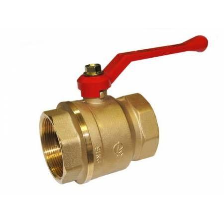 Кран шаровой латунный Стандарт 220 Ду50 ВР/ВР рычаг полнопроходной, ГАЛЛОП