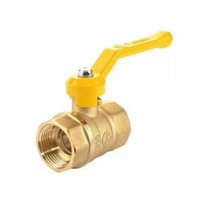 Кран шаровой латунный для газа Стандарт 220 Ду20 ВР/ВР рычаг полнопроходной, ГАЛЛОП
