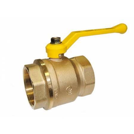 Кран шаровой латунный для газа Стандарт 220 Ду50 ВР/ВР рычаг полнопроходной, ГАЛЛОП