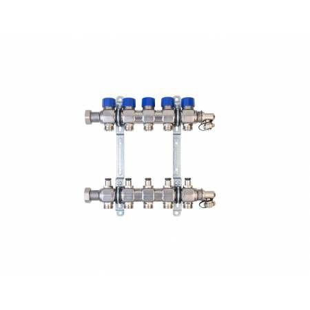 Коллектор для теплого пола на 5 выходов FBH 53 тип B, HANSA