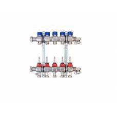 Коллектор для теплого пола с расходомерами на 5 выходов FBH 63 HANSA