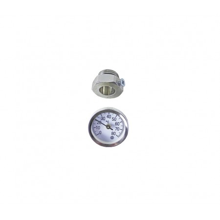 Термометр ø34x10 мм 0-80 °С для гильзы ½, HANSA