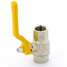 Шаровой латунный кран для газа ВР-ВР полнопроходной, с рукояткой, Ду15-25, Ру 5/50, London 066, ITAP