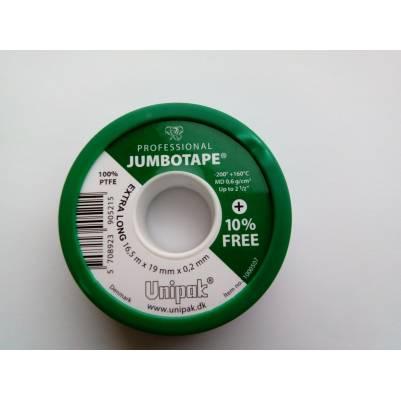 Фум-лента JUMBOTAPE (16,5 м х 19 мм х 0,2 мм), Unipak