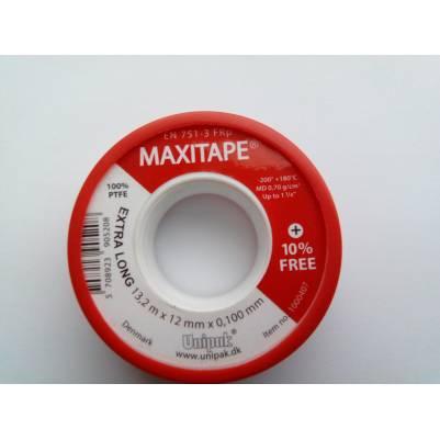 Фум-лента MAXITAPE (13,2 м х 12 мм х 0,1 мм), Unipak