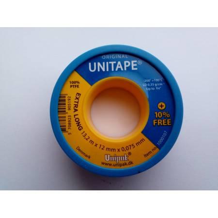 Фум-лента UNITAPE (13,2 м х 12 мм х 0,075 мм), Unipak